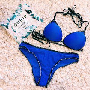 SHEIN Swim - NWT SHEIN Contrast Binding Triangle Bikini